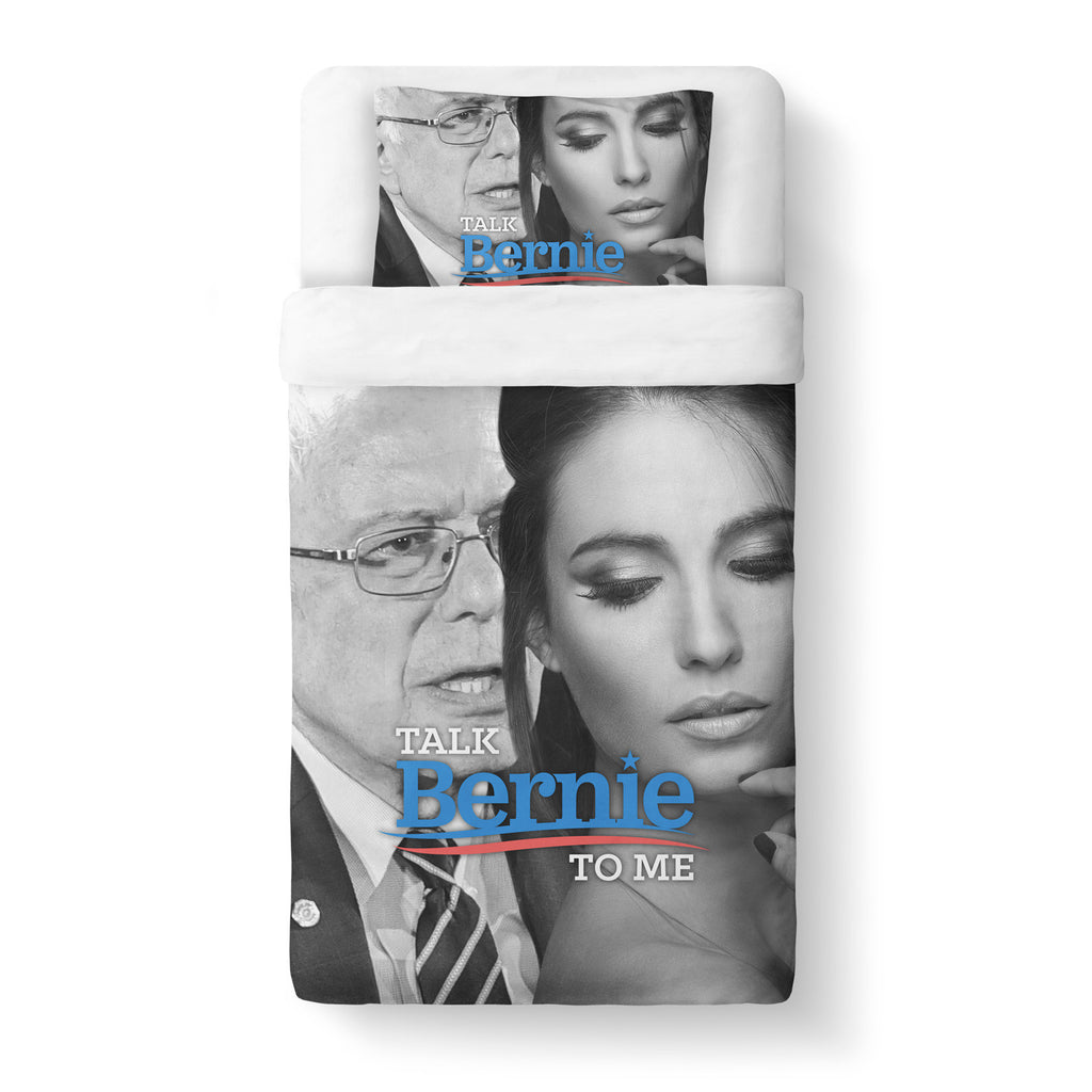 Talk Bernie To Me  Duvet Cover Set - Shelfies | All-Over-Print Everywhere - Designed to Make You Smile