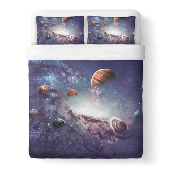 The Cosmos Duvet Cover Set-Shelfies-Queen + Two Pillow Cases-| All-Over-Print Everywhere - Designed to Make You Smile