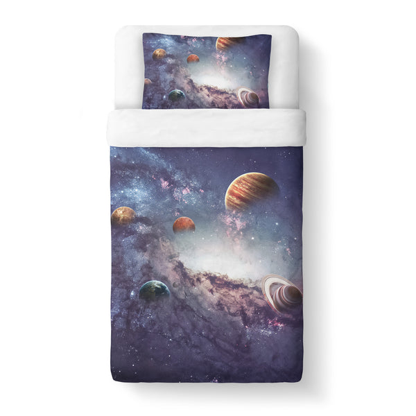 The Cosmos Duvet Cover Set-Shelfies-Twin + 1 Pillow Case-| All-Over-Print Everywhere - Designed to Make You Smile