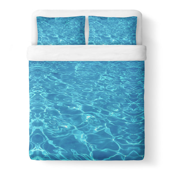 Water Duvet Cover Set-Shelfies-Queen + Two Pillow Cases-| All-Over-Print Everywhere - Designed to Make You Smile