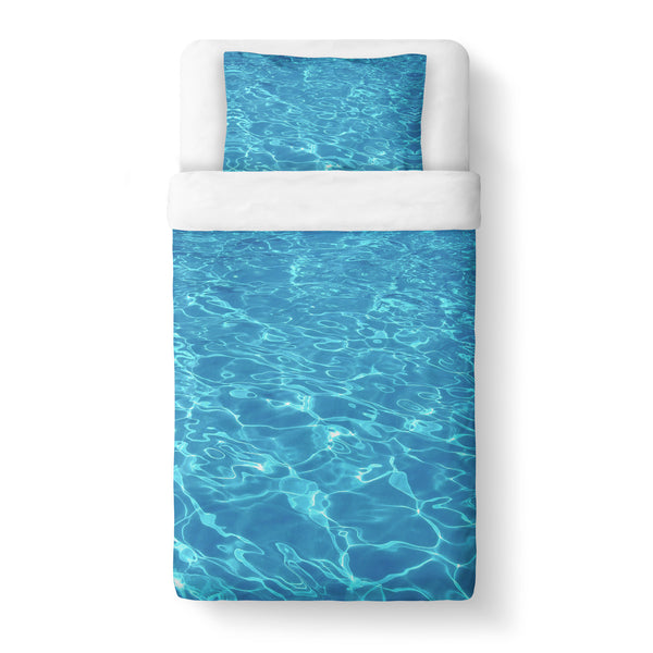 Water Duvet Cover Set-Shelfies-Twin + 1 Pillow Case-| All-Over-Print Everywhere - Designed to Make You Smile