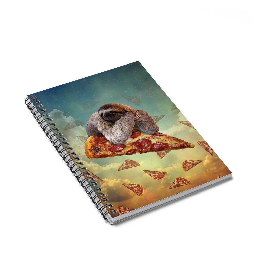 Sloth Pizza Spiral Notebook-Printify-Spiral Notebook-| All-Over-Print Everywhere - Designed to Make You Smile