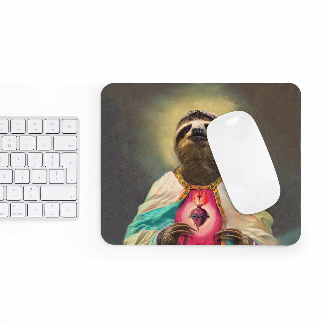 Sloth Jesus Mousepad-Printify-Rectangle-| All-Over-Print Everywhere - Designed to Make You Smile