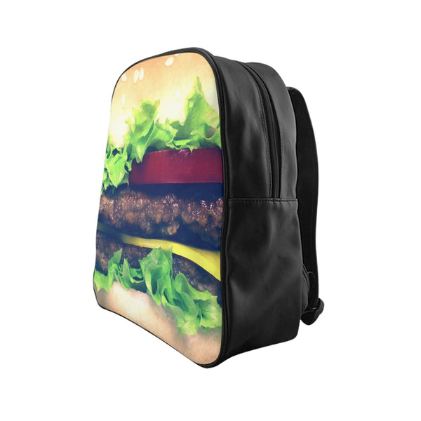 Burger Backpack-Printify-Large-| All-Over-Print Everywhere - Designed to Make You Smile