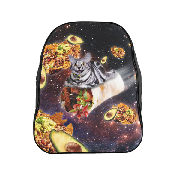 Burrito Cat Backpack-Printify-| All-Over-Print Everywhere - Designed to Make You Smile