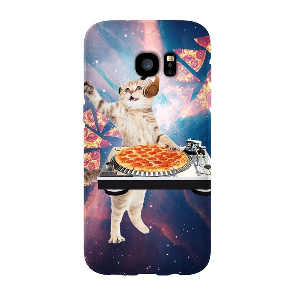 DJ Pizza Cat Smartphone Case-Gooten-Samsung Galaxy S7 Edge-| All-Over-Print Everywhere - Designed to Make You Smile