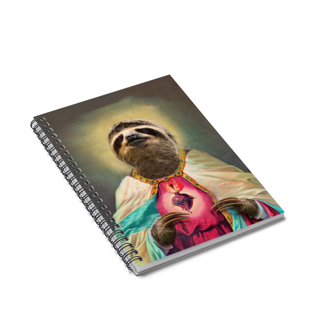 Sloth Jesus Spiral Notebook-Printify-Spiral Notebook-| All-Over-Print Everywhere - Designed to Make You Smile