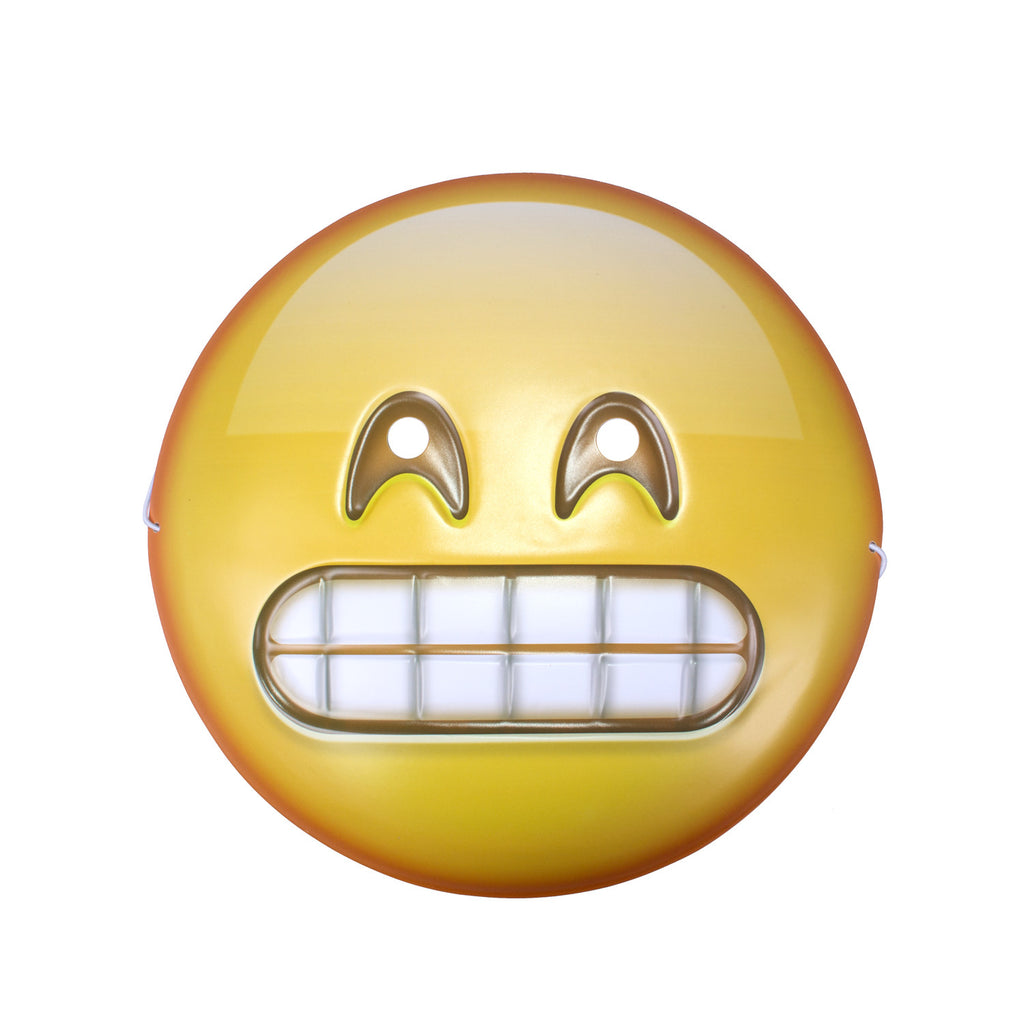Grimacing Emoji Mask - Shelfies | All-Over-Print Everywhere - Designed to Make You Smile