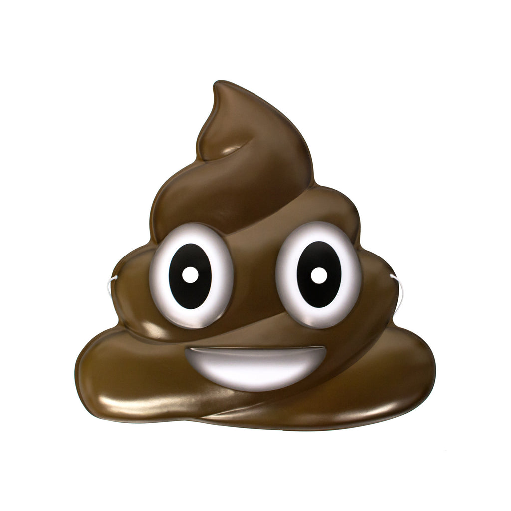 Poo Emoji Mask-Shelfies-One Size-| All-Over-Print Everywhere - Designed to Make You Smile