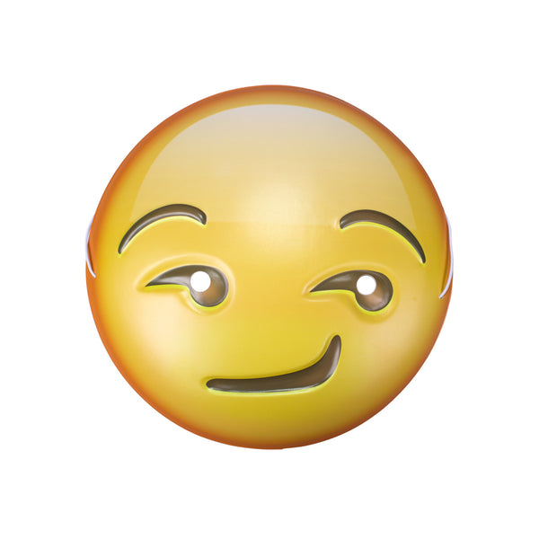 Smirking Emoji Mask-Shelfies-One Size-| All-Over-Print Everywhere - Designed to Make You Smile