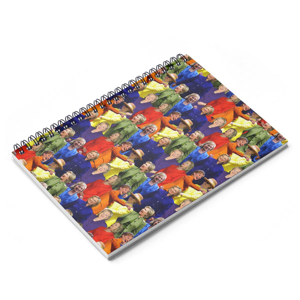 Hillary Clinton Rainbow Suit Spiral Notebook-Printify-| All-Over-Print Everywhere - Designed to Make You Smile