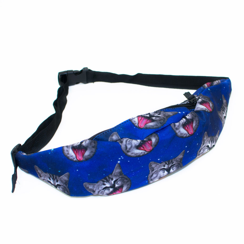 Galaxy Cat Heads Fanny Pack-Shelfies-| All-Over-Print Everywhere - Designed to Make You Smile