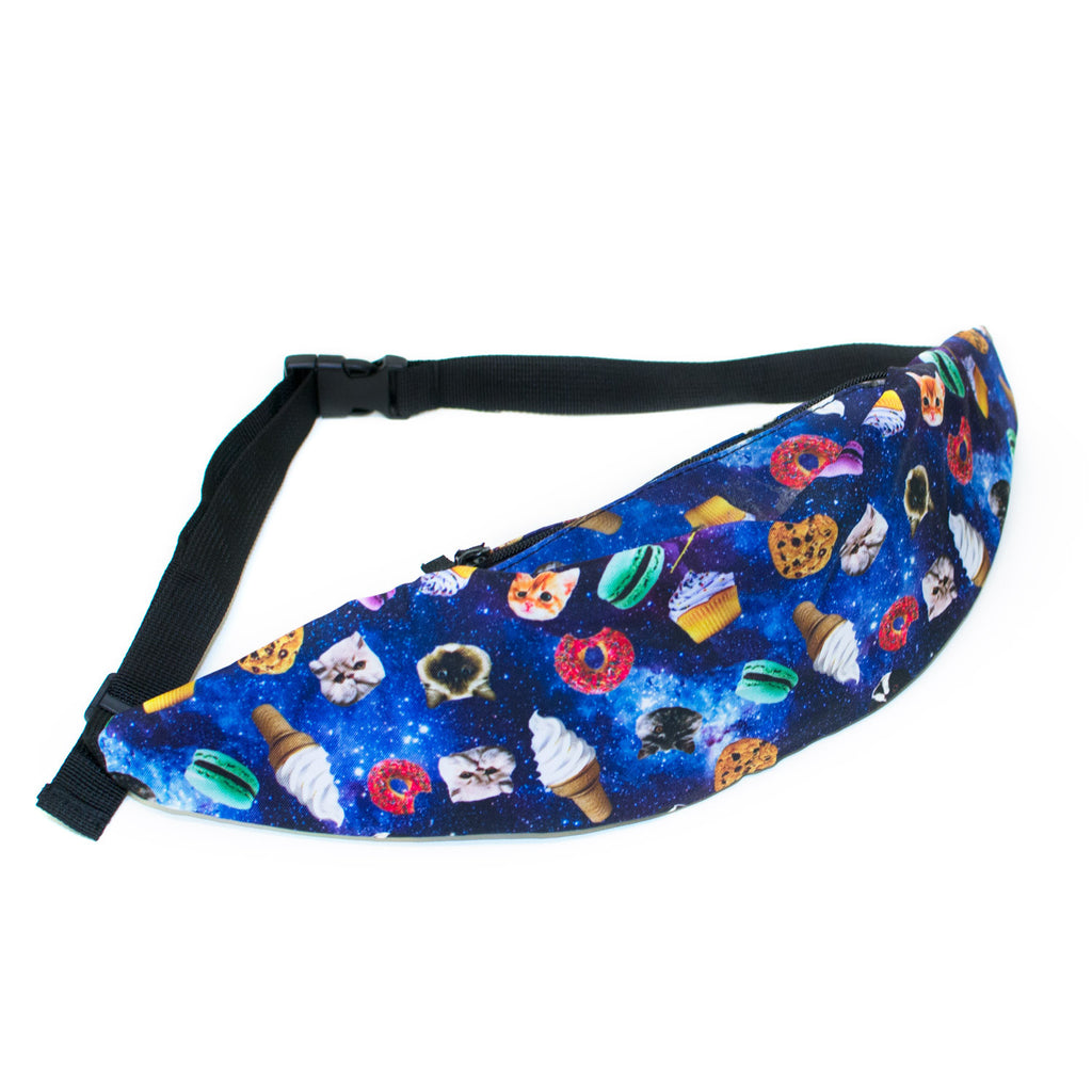 Galaxy Food Party Fanny Pack-Shelfies-One Size-| All-Over-Print Everywhere - Designed to Make You Smile