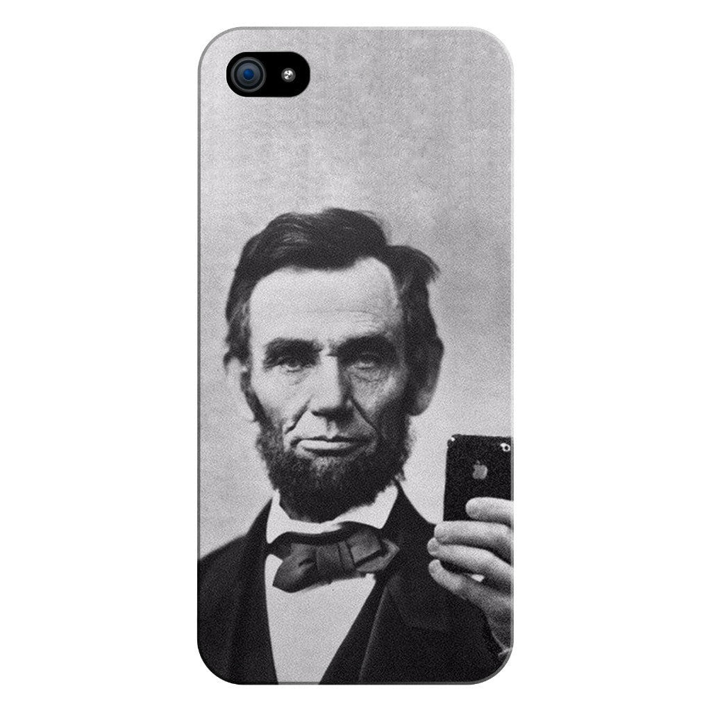 Abraham Lincoln Selfie Smartphone Case-Gooten-iPhone 5/5s/SE-| All-Over-Print Everywhere - Designed to Make You Smile