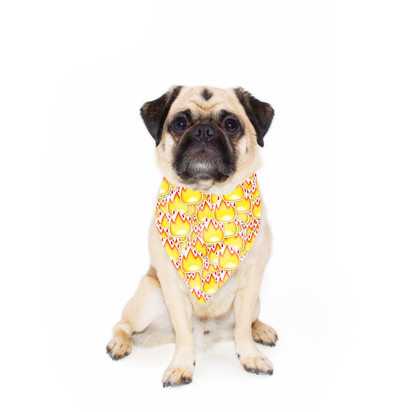 Fire Emoji Pet Bandana-Gooten-24x24 inch-| All-Over-Print Everywhere - Designed to Make You Smile