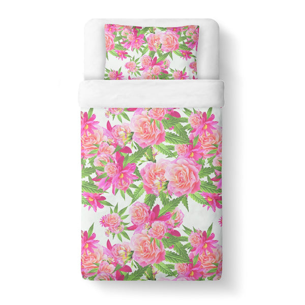 Kush Flowers Duvet Cover-Shelfies-Twin-| All-Over-Print Everywhere - Designed to Make You Smile