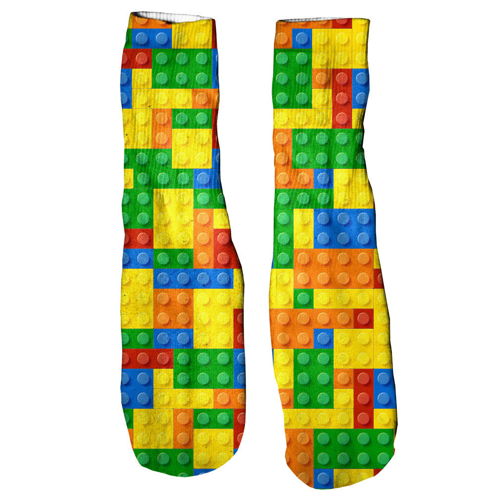 Brick Invasion Foot Glove Socks-Shelfies-One Size-| All-Over-Print Everywhere - Designed to Make You Smile