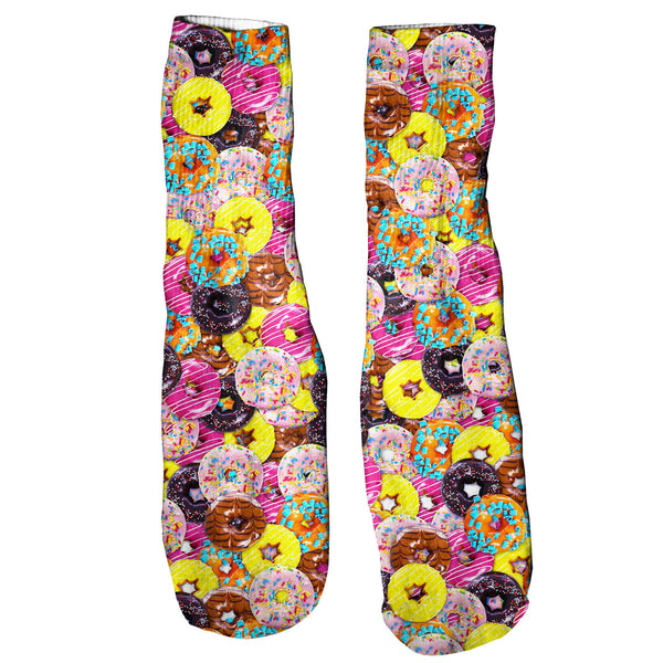 Donuts Invasion Foot Glove Socks-Shelfies-One Size-| All-Over-Print Everywhere - Designed to Make You Smile