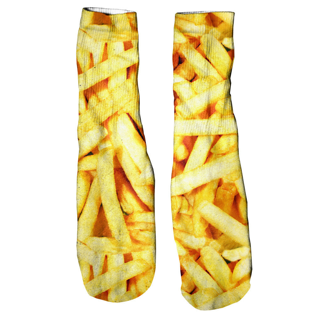 French Fries Invasion Foot Glove Socks-Shelfies-| All-Over-Print Everywhere - Designed to Make You Smile
