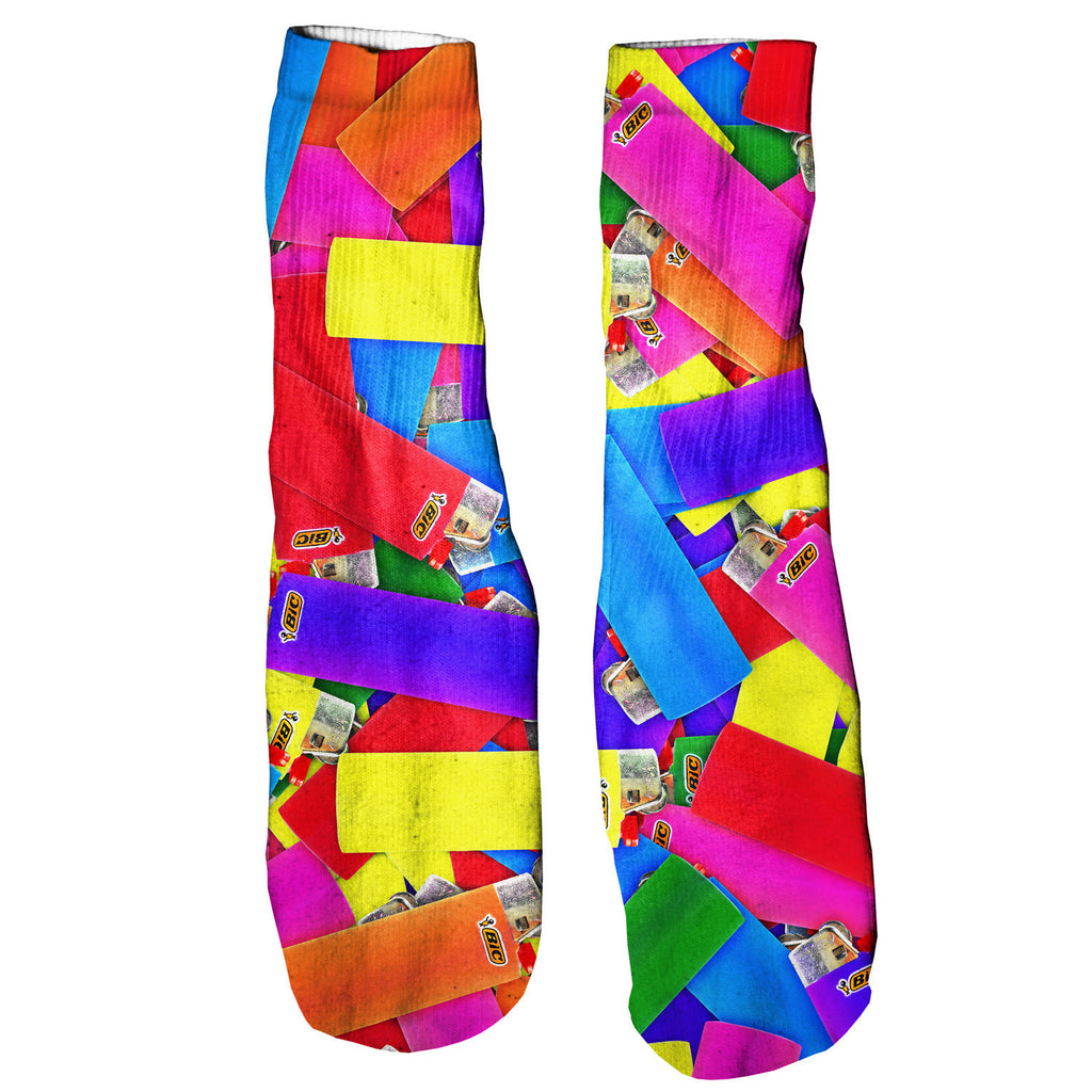 "Lighter Invasion ""It's Lit"" Foot Glove Socks-Shelfies-One Size-