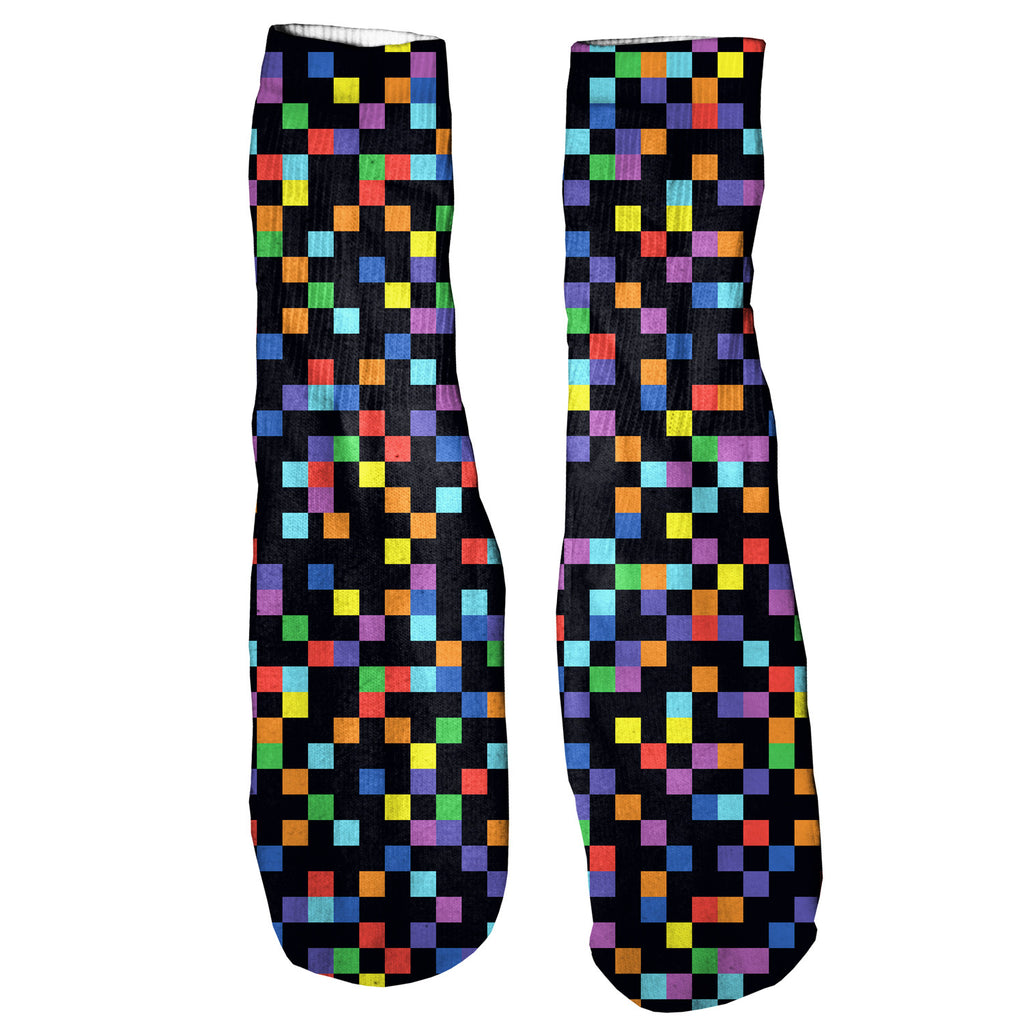 Pixel Foot Glove Socks-Printify-One Size-| All-Over-Print Everywhere - Designed to Make You Smile