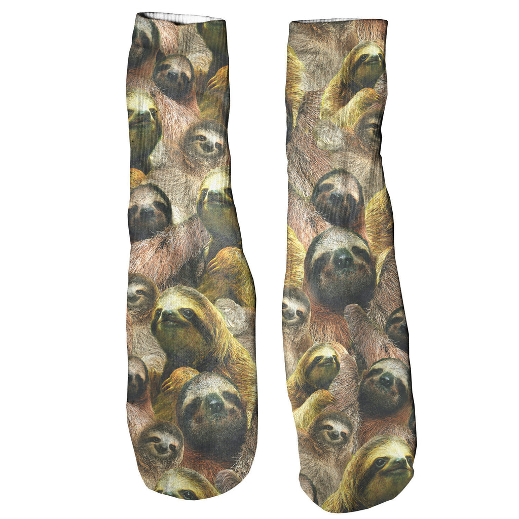 Sloth Invasion Foot Glove Socks-Shelfies-One Size-| All-Over-Print Everywhere - Designed to Make You Smile