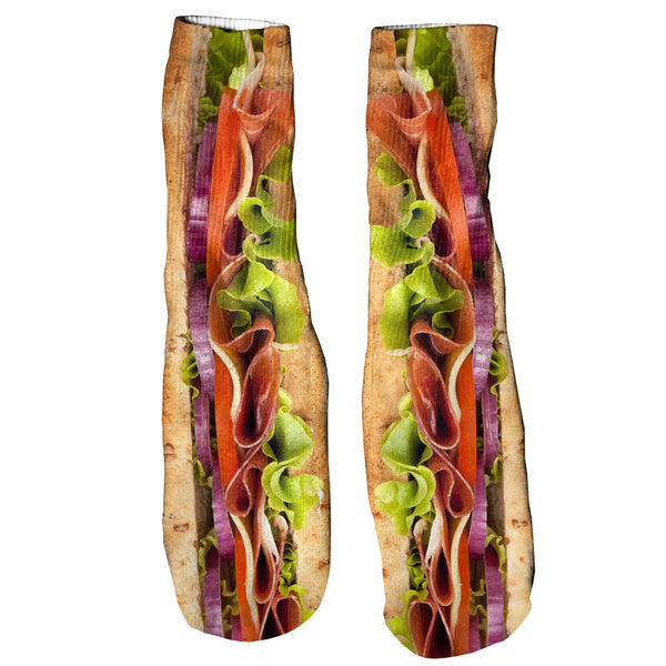 Sub Sandwich Foot Glove Socks-Shelfies-| All-Over-Print Everywhere - Designed to Make You Smile