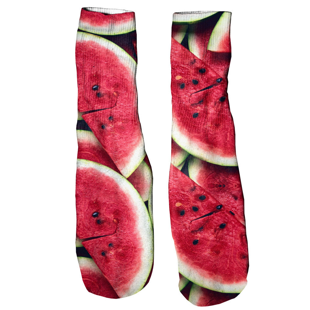 Watermelon Invasion Foot Glove Socks-Printify-One Size-| All-Over-Print Everywhere - Designed to Make You Smile