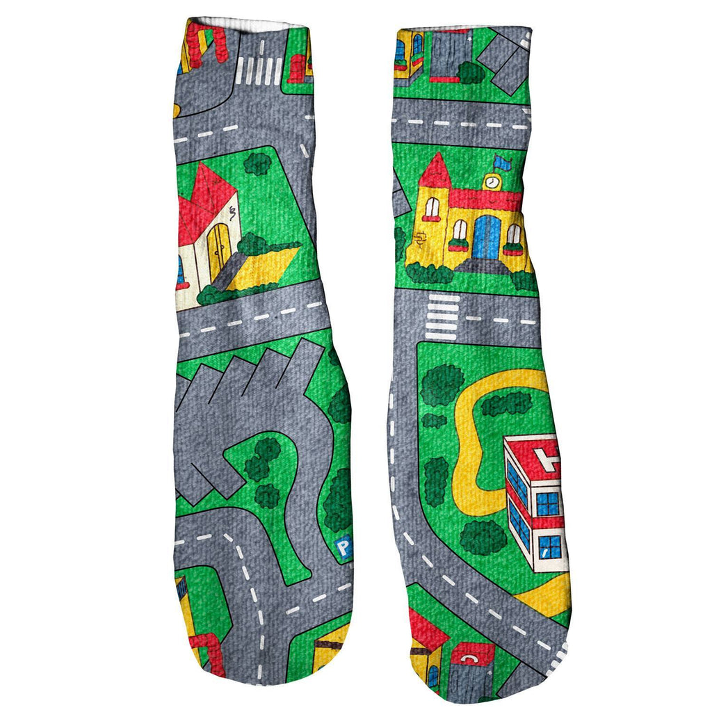 Carpet Track Foot Glove Socks-Printify-One Size-| All-Over-Print Everywhere - Designed to Make You Smile
