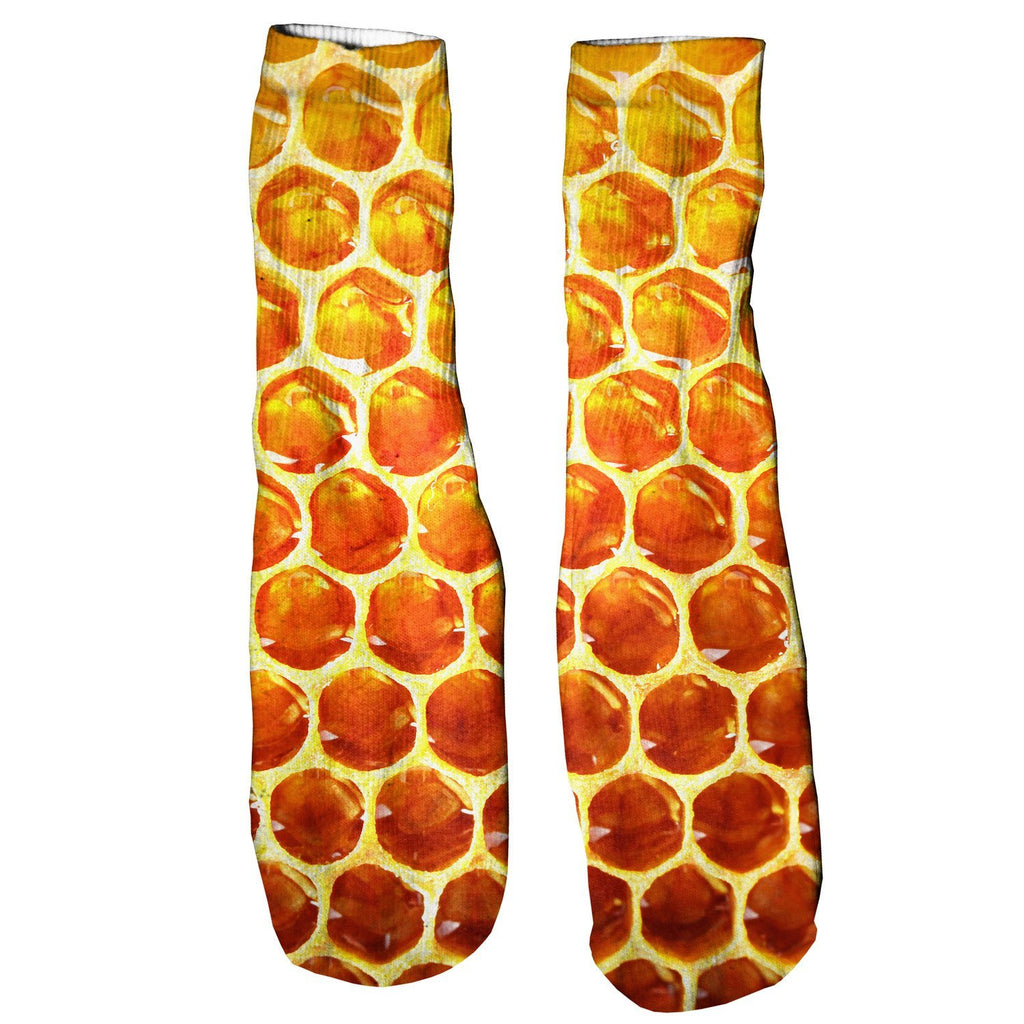 Honeycomb Foot Glove Socks-Shelfies-One Size-| All-Over-Print Everywhere - Designed to Make You Smile