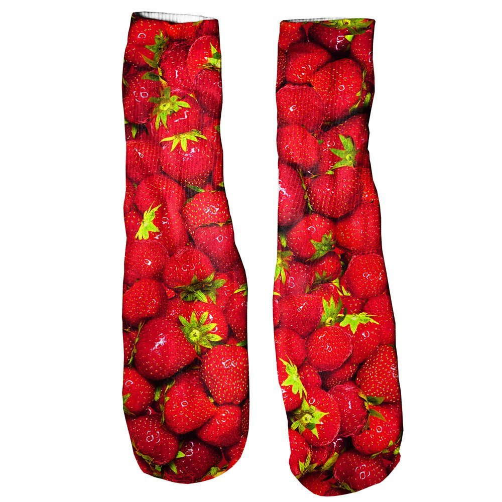 Strawberry Invasion Foot Glove Socks-Printify-One Size-| All-Over-Print Everywhere - Designed to Make You Smile