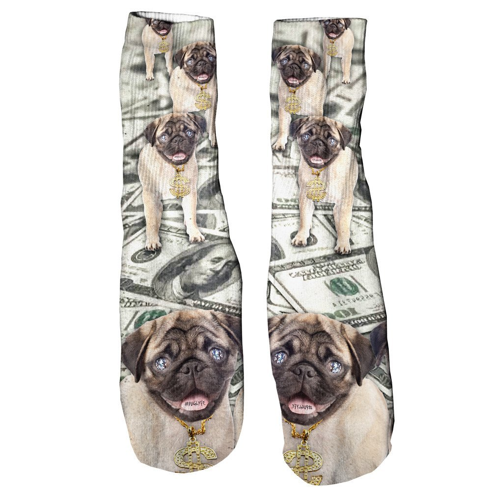 Thug Pug Foot Glove Socks-Shelfies-One Size-| All-Over-Print Everywhere - Designed to Make You Smile