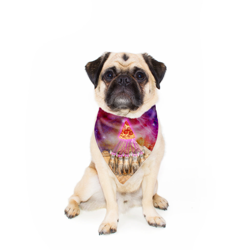 Great Pyramid of Pizza Pet Bandana-Gooten-24x24 inch-| All-Over-Print Everywhere - Designed to Make You Smile