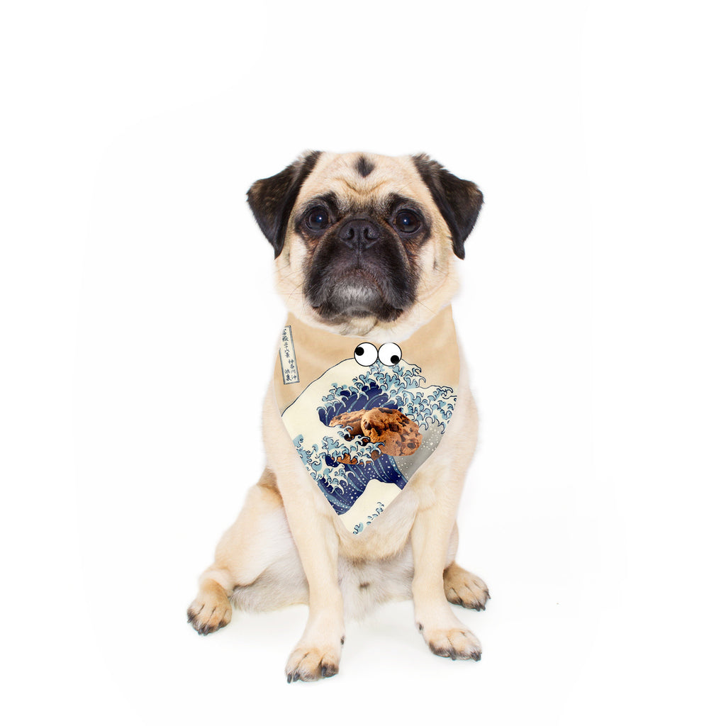 Great Wave of Cookie Monster Pet Bandana-Gooten-24x24 inch-| All-Over-Print Everywhere - Designed to Make You Smile