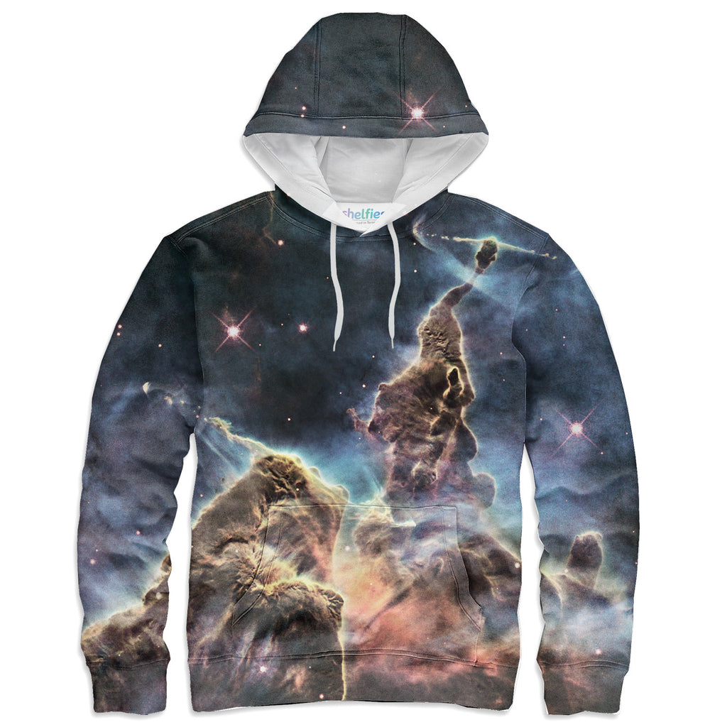 Carina Nebula Hoodie-Shelfies-XS-| All-Over-Print Everywhere - Designed to Make You Smile