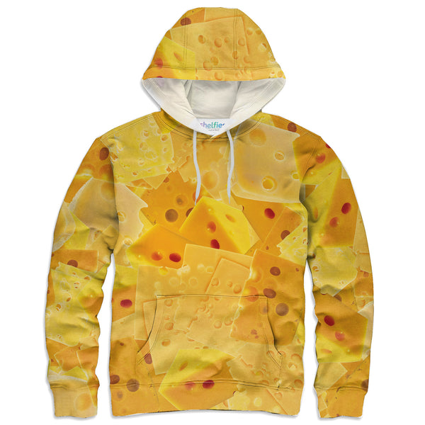Cheezy Hoodie-Shelfies-| All-Over-Print Everywhere - Designed to Make You Smile