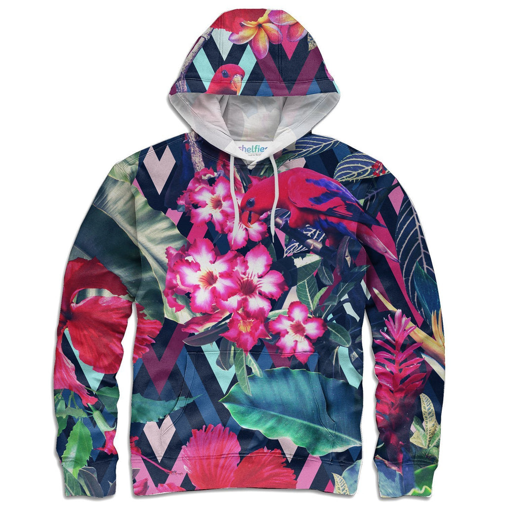 Floral Bird Hoodie-Subliminator-| All-Over-Print Everywhere - Designed to Make You Smile