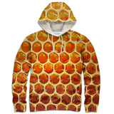 Honeycomb Hoodie - Shelfies | All-Over-Print Everywhere - Designed to Make You Smile