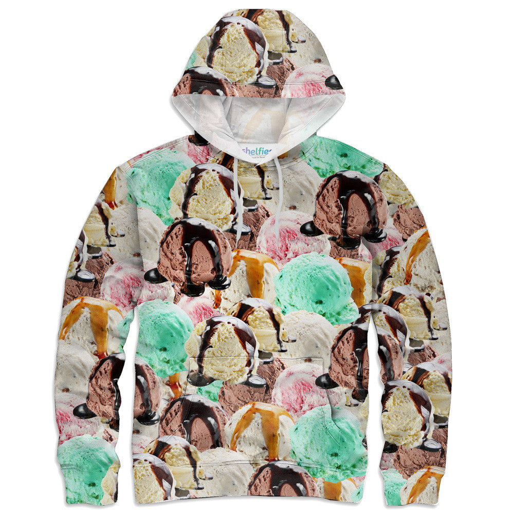 Ice Cream Paint Job Hoodie - Shelfies | All-Over-Print Everywhere - Designed to Make You Smile