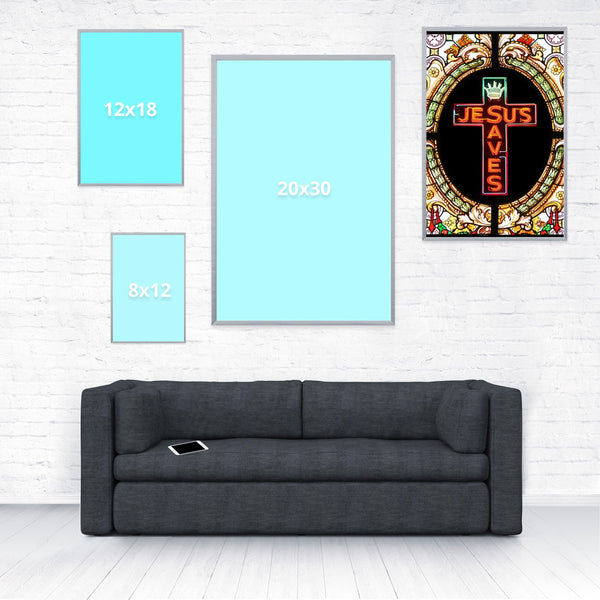 Jesus Saves Poster-Shelfies-16 x 24-| All-Over-Print Everywhere - Designed to Make You Smile