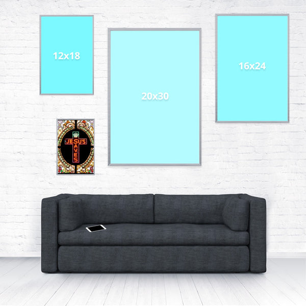 Jesus Saves Poster-Shelfies-8 x 12-| All-Over-Print Everywhere - Designed to Make You Smile