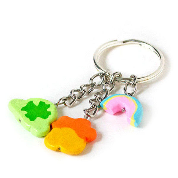 Lucky 3-Charm Keychain-Shelfies-| All-Over-Print Everywhere - Designed to Make You Smile