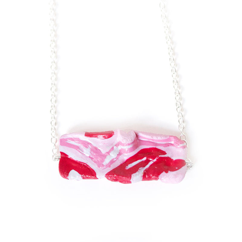 Bacon Necklace - Shelfies | All-Over-Print Everywhere - Designed to Make You Smile