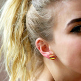 Burger Earrings - Shelfies | All-Over-Print Everywhere - Designed to Make You Smile