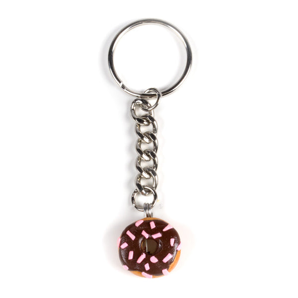 Chocolate Donut Keychain-Shelfies-One Size-| All-Over-Print Everywhere - Designed to Make You Smile