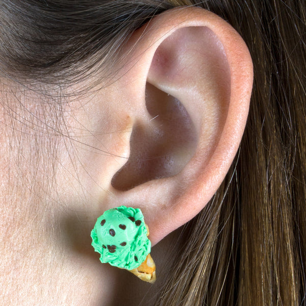 Mint Choco Chip Earring-Shelfies-One Size-| All-Over-Print Everywhere - Designed to Make You Smile