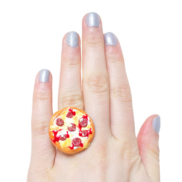 Pizza Party Ring-Shelfies-| All-Over-Print Everywhere - Designed to Make You Smile