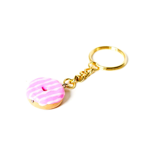 Pink Donut Keychain-Shelfies-| All-Over-Print Everywhere - Designed to Make You Smile