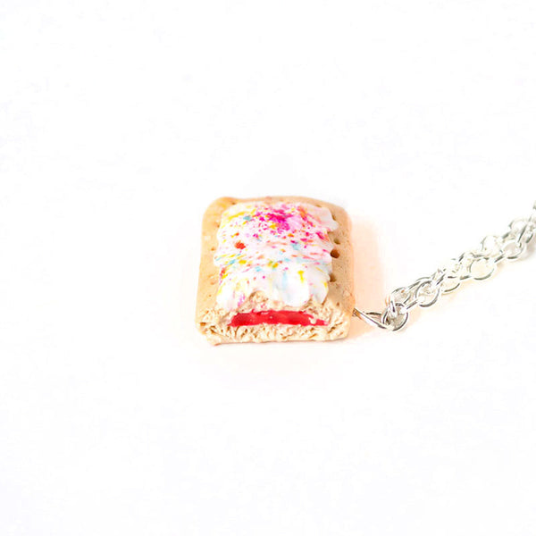 Strawberry Poptart Necklace-Shelfies-One Size-| All-Over-Print Everywhere - Designed to Make You Smile
