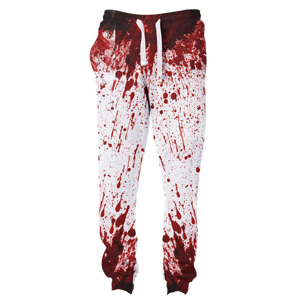 Blood Splatter Joggers-Shelfies-S-| All-Over-Print Everywhere - Designed to Make You Smile